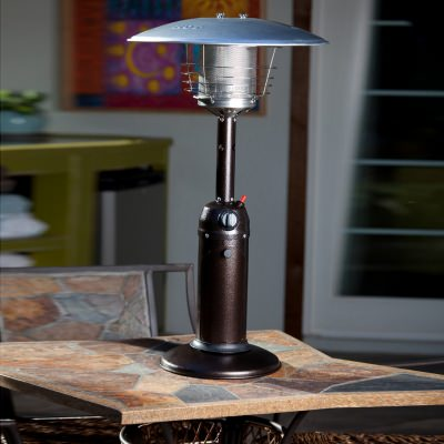 Hammered Bronze Stainless Steel Table Top Patio Heater