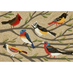 Frontporch Birds Outdoor Rug