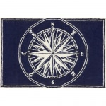 Frontporch Compass Navy Outdoor Rug