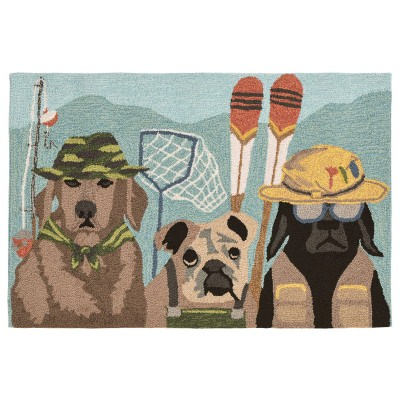 Frontporch Fishing Patrol DK Multi Outdoor Rug