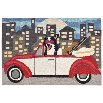Frontporch City Dog Night Outdoor Rug