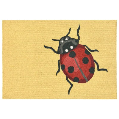 Frontporch Ladybug Yellow Outdoor Rug