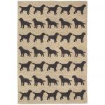 Frontporch Black Dogs Outdoor Rug