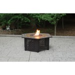 Propane Gas Slate Fire Pit Table
