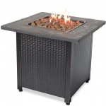 Propane Gas Fire Table with Resin Mantel
