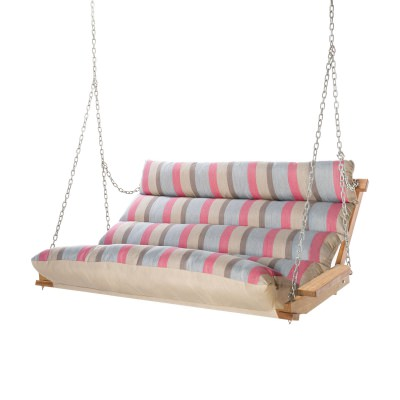 Deluxe Cushion Double Swing Made with Sunbrella - Gateway Blush