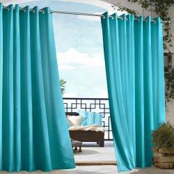 Bahama Blue Gazebo Polyester Outdoor Curtain
