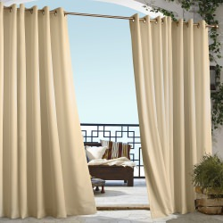 Beige Gazebo Polyester Outdoor Curtain