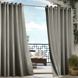 Dark Grey Gazebo Polyester Outdoor Curtain