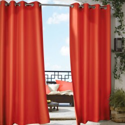 Red Gazebo Polyester Outdoor Curtain