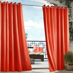 Tangerine Gazebo Polyester Outdoor Curtain