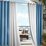 Blue Gazebo Polyester Outdoor Curtain