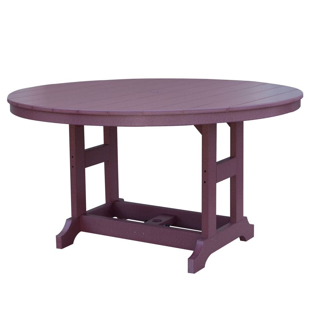 Garden Classic 60 Round Dining Table - Cedar On Green