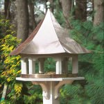 Carousel Bird Feeder with Polished Copper Roof