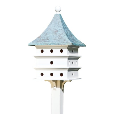 Ultimate Martin Bird House with Blue Verde Copper Roof