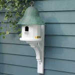 Copper Top Bird House with Blue Verde Copper Roof