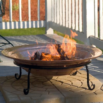Good Directions 30 Inch Medium Polished Copper Fire Pit