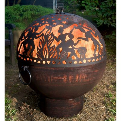 Good Directions 26 Inch Bowl Fire Pit with Full Moon Party FireDome