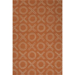 Grant Design XOXO Terracotta Outdoor Rug