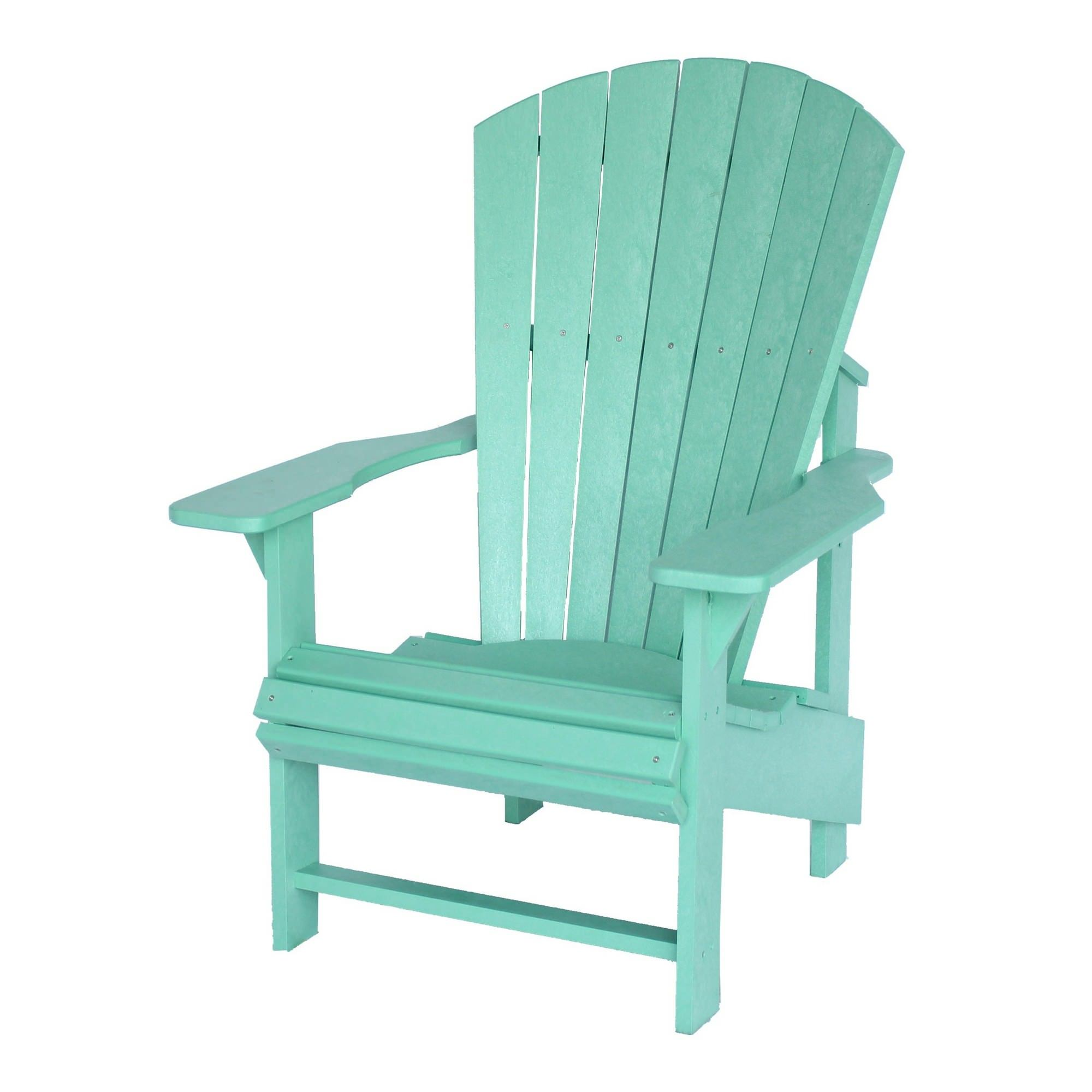 Mint Green Upright Polywood Adirondack Chair