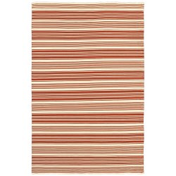 Grand Cayman Batabano Terracotta and Ivory Outdoor Rug