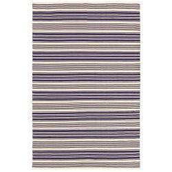 Grand Cayman Batabano Navy and Ivory Outdoor Rug