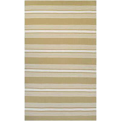 Grand Cayman Admiral Camel and Ivory Outdoor Rug