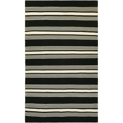 Grand Cayman Admiral Black and Ivory Outdoor Rug
