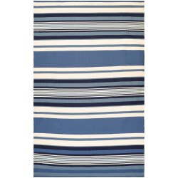 Grand Cayman Admiral Ocean Blue and Ivory Outdoor Rug