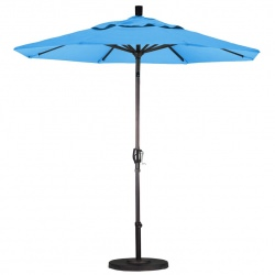 8 ft Alum Market Umbrella Push Tilt Bronze