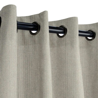 Sunbrella Spectrum Dove Outdoor Curtain with Dark Gunmetal Plated Grommets 50 in. x 108 in.