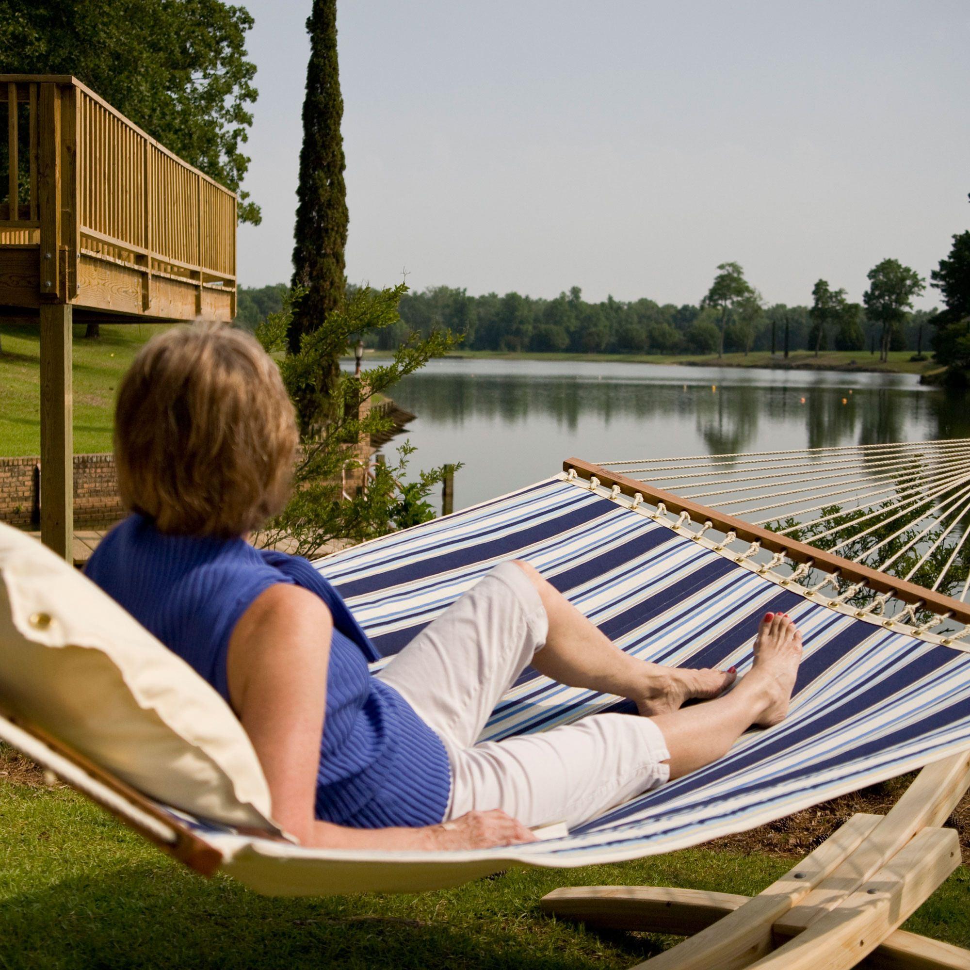 hammocks hammock hatteras pillowtop dfohome classic red stripe dlxptqeq xx