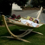 Large Quilted Hammock - Spring Bay Stripe