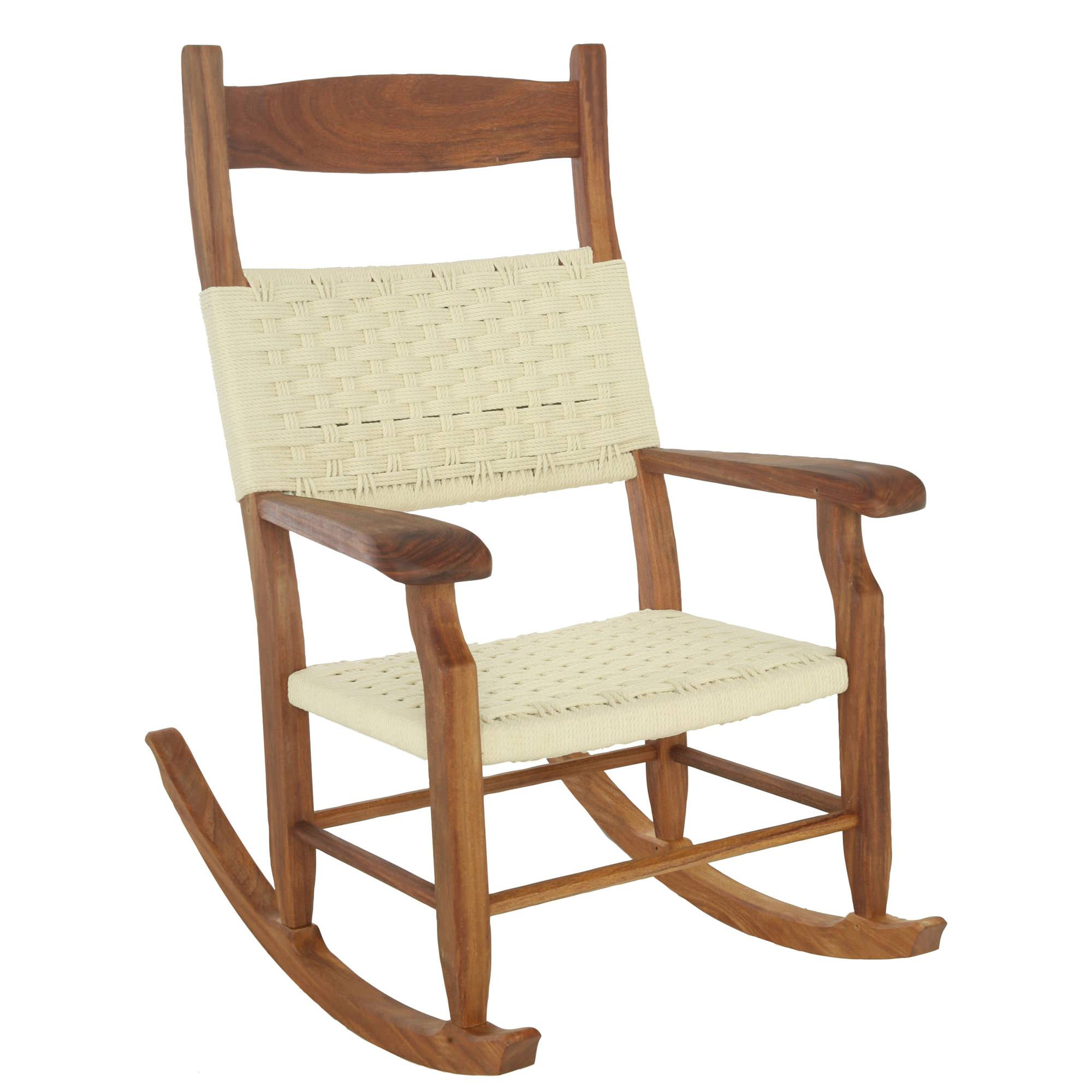 Hatteras Outdoors Rocking Chair Oatmeal DuraCord Rope