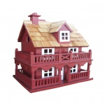 Novelty Cottage Birdhouse - Red
