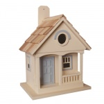 Pacific Grove Birdhouse - Yellow With Lt. Blue