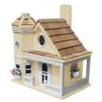 Flower Pot Cottage Birdhouse - Yellow