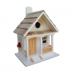 Peaches N' Cream Cottage Birdhouse - Peaches N' Cream