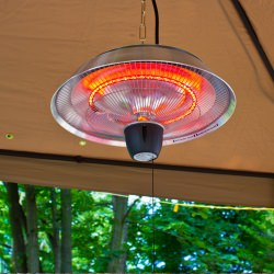 Energ  Infrared Indoor/Outdoor Ceiling Electric Patio Heater in Silver