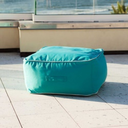 Square Outdoor Sunbrella Bean Bag Ottoman
