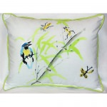 Birds and Bees II Outdoor Pillow