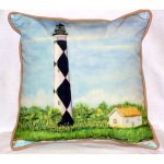 Cape Lookout Lighthouse NC Outdoor Pillow