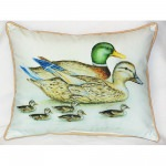 Mallard Family Outdoor Pillow