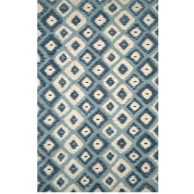 Visions II Ikat Diamonds Aqua