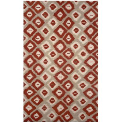 Visions II Ikat Diamonds Red