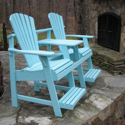Adirondack Balcony/Pub Double Seater With Tete A Tete   Painted