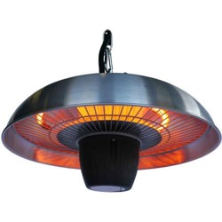 700 Watt Electric Infrared Patio Heater in Silver