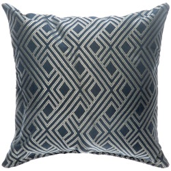 Integrated Indigo Sunbrella Designer Porch Pillow