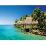 Island Way Water Front 24x36 Inch Outdoor Canvas Art