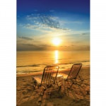 Island Way Table for Two 30x40 Inch Outdoor Canvas Art